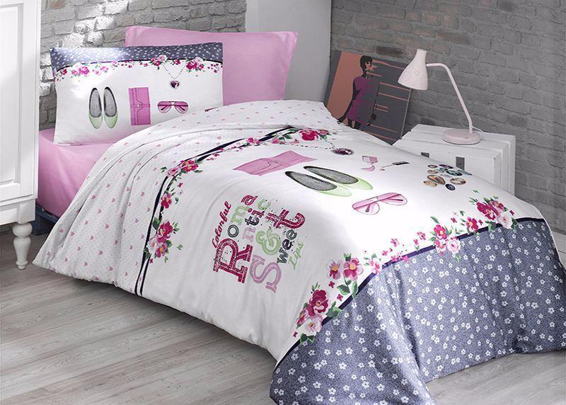 Комплект постельного белья First Choice Ranforce полуторный ранфорс подростковый арт.Jewels