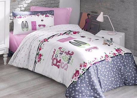 Комплект постельного белья First Choice Ranforce полуторный ранфорс подростковый арт.Jewels, фото 2