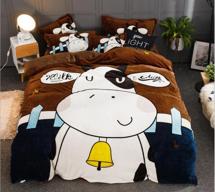 Комплект постельного белья Homytex полуторный микрофибра подростковый Big cow арт.8-63134