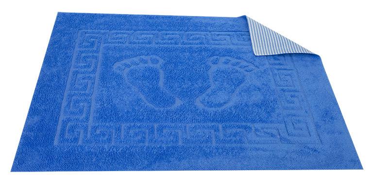Коврик для ванной Турция прорезиненный 50*70 см голубой Dark Blue