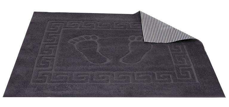 Коврик для ванной Турция прорезиненный 50*70 см темно-серый Dark Grey