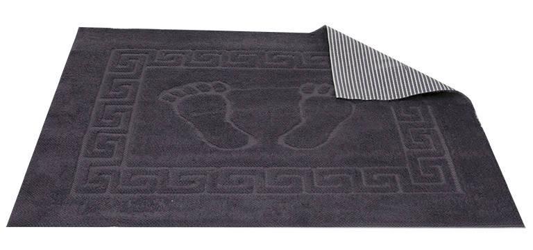 Коврик для ванной Турция прорезиненный 50*70 см темно-серый Dark Grey, фото 2