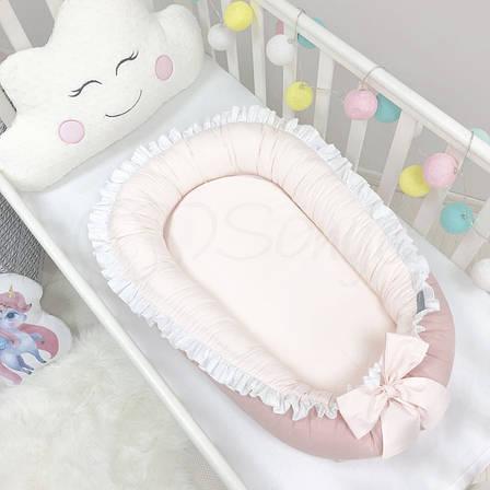 Кокон для новорожденных Маленькая Соня Универсальный 65*90 см поплин детский пудра арт.500079, фото 2