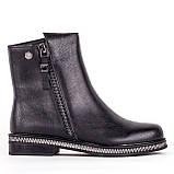 Женские кожаные ботинки  Anna Lucci F606-0400-N559B BLACK KOGA, фото 2