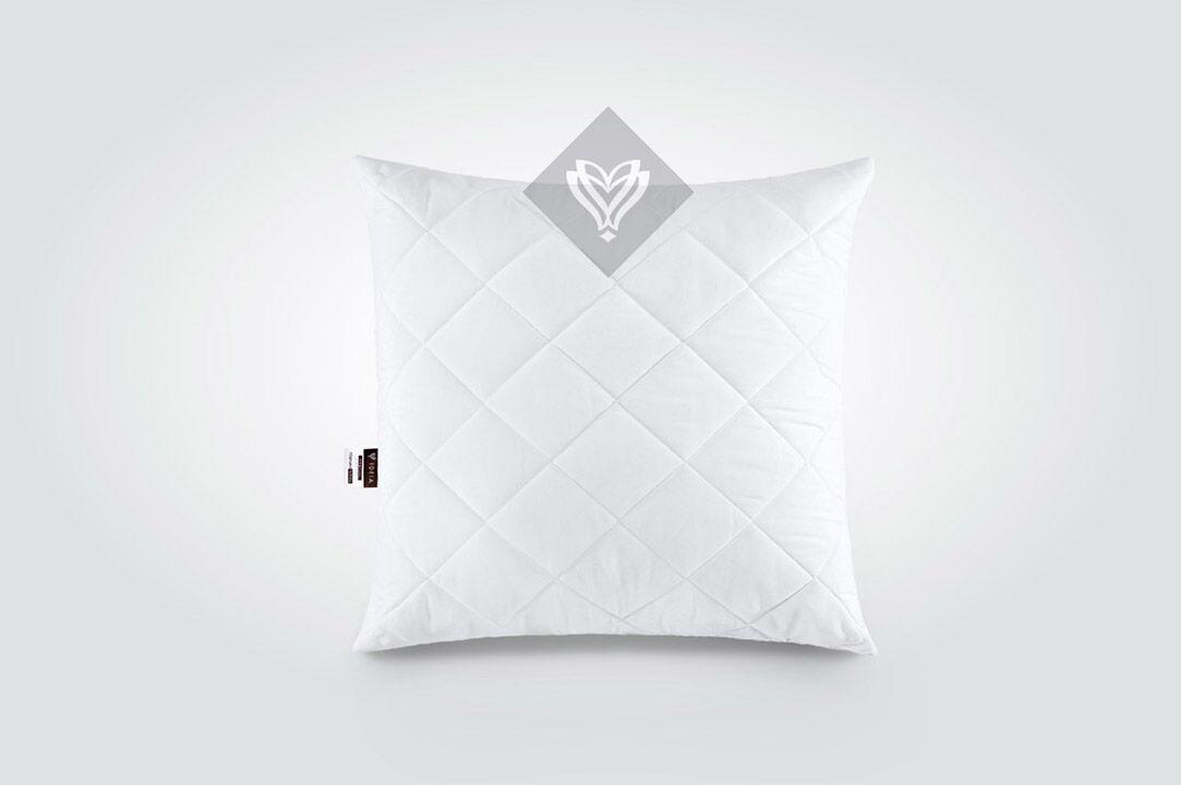 Подушка Ideia Comfort Standart+ 60*60 см микрофибра/силиконовые шарики белая арт.8-13501