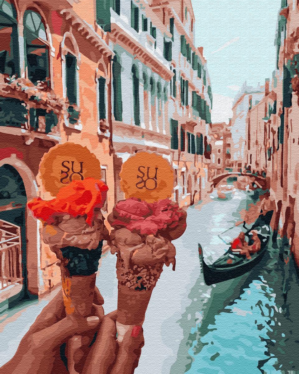 Картина по номерам Джелато в Венеции (BK-GX34170) 40 х 50 см Brushme [Без коробки]