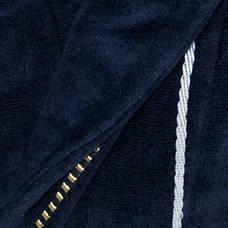 Халат Gursan чоловічий махровий р. XXL (50-52) Синій, фото 3