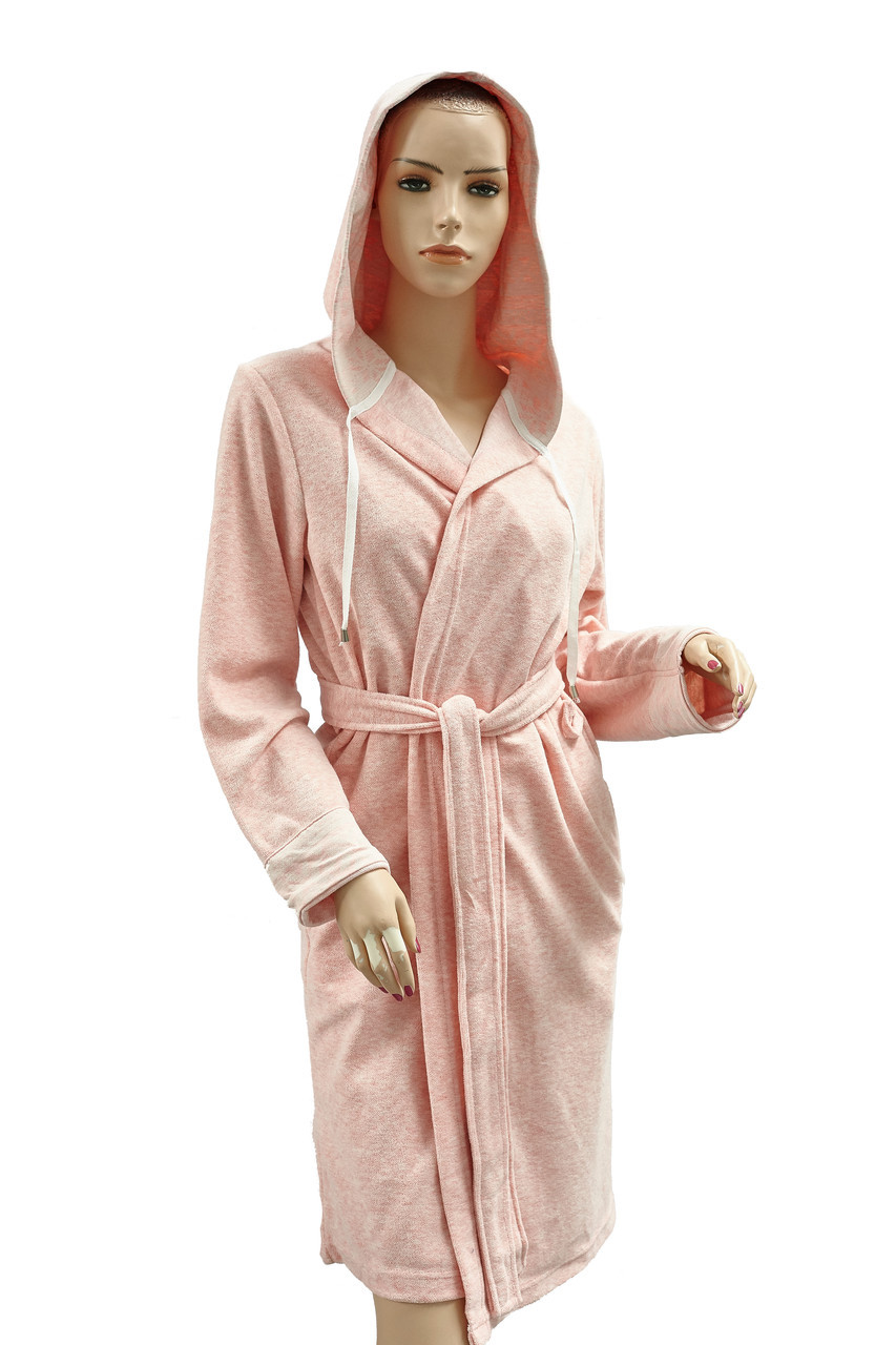 Халат Arya Latena жіночий махровий з капюшоном р. XL Пудра арт.TR1002524