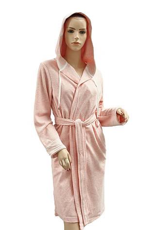 Халат Arya Latena жіночий махровий з капюшоном р. XL Пудра арт.TR1002524, фото 2