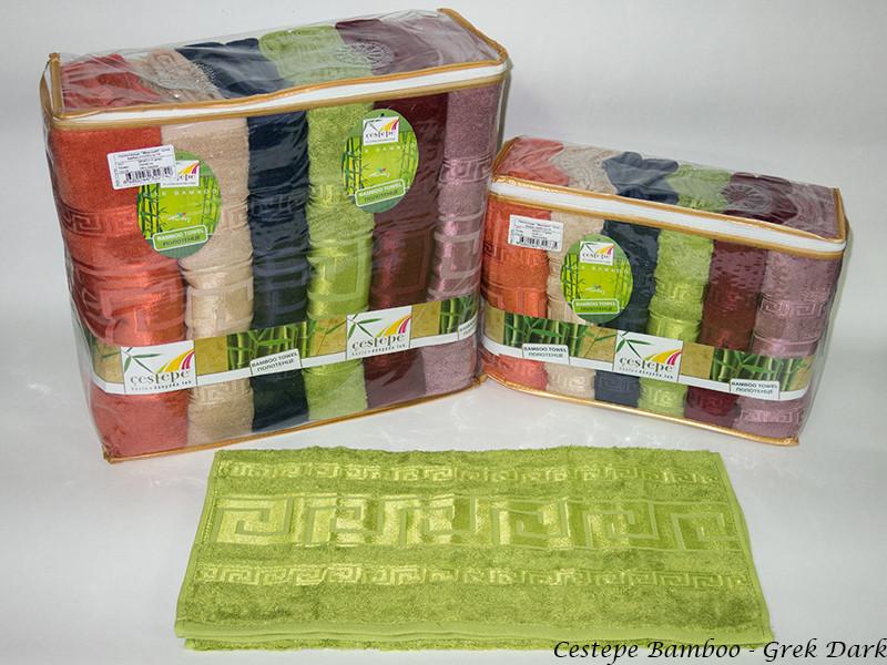 Набор полотенец для лица Cestepe Bamboo 50*90 см бамбуковые банные Grek Dark 6шт