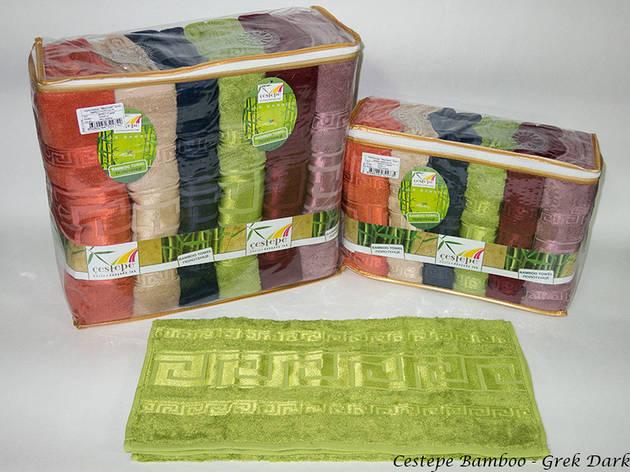 Набор полотенец для лица Cestepe Bamboo 50*90 см бамбуковые банные Grek Dark 6шт, фото 2