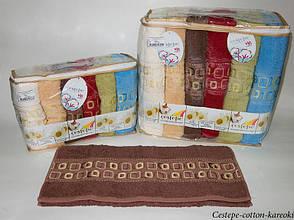 Набор полотенец для лица Cestepe Vip Cotton 50*90 см махровые банные Kareoki 6шт, фото 2