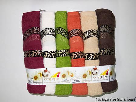 Набор полотенец для лица Cestepe Vip Cotton 50*90 см махровые банные Lionel 6шт, фото 2