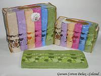 Набор полотенец для лица Gursan Cotton 50*90 см махровые банные Colored 6шт