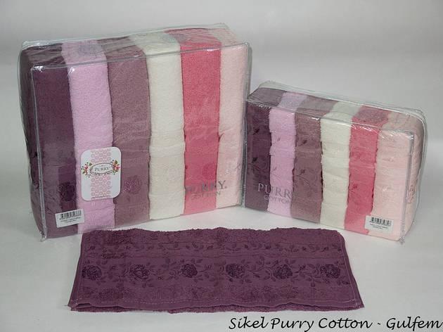 Набор полотенец для лица Purry Cotton 50*90 см махровые банные Gulfem 6шт, фото 2