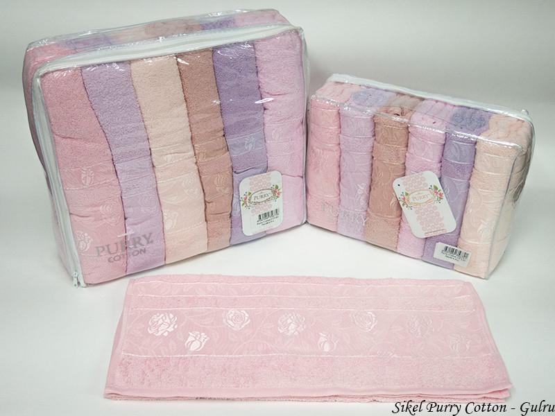 Набор полотенец для лица Purry Cotton 50*90 см махровые банные Gulru 6шт
