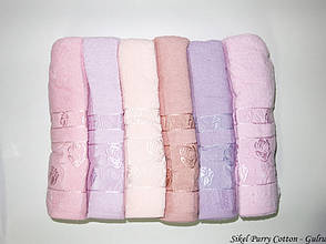 Набор полотенец для лица Purry Cotton 50*90 см махровые банные Gulru 6шт, фото 2