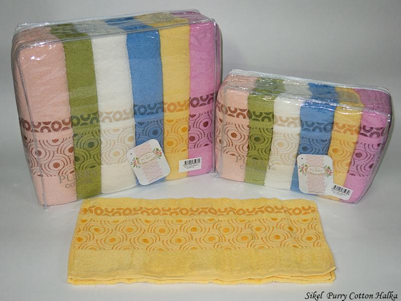 Набор полотенец для лица Purry Cotton 50*90 см махровые банные Halka 6шт