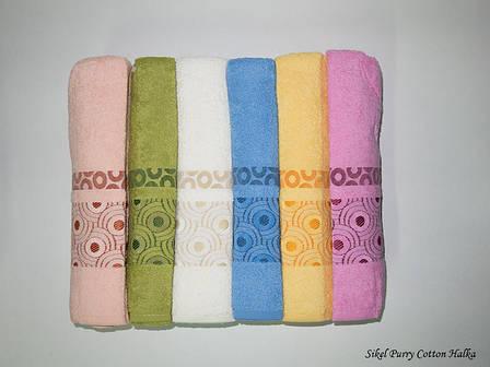 Набор полотенец для лица Purry Cotton 50*90 см махровые банные Halka 6шт, фото 2