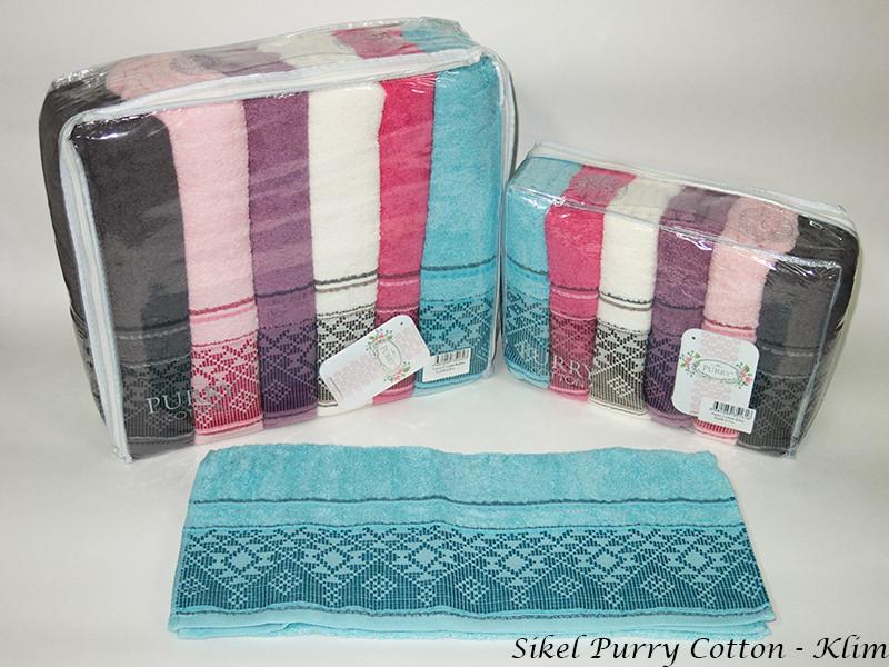 Набор полотенец для лица Purry Cotton 50*90 см махровые банные Klim 6шт