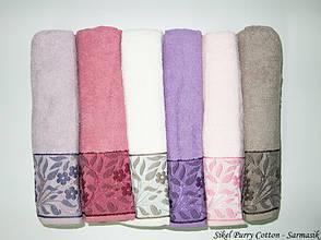 Набор полотенец для лица Purry Cotton 50*90 см махровые банные Sarmasik 6шт, фото 2