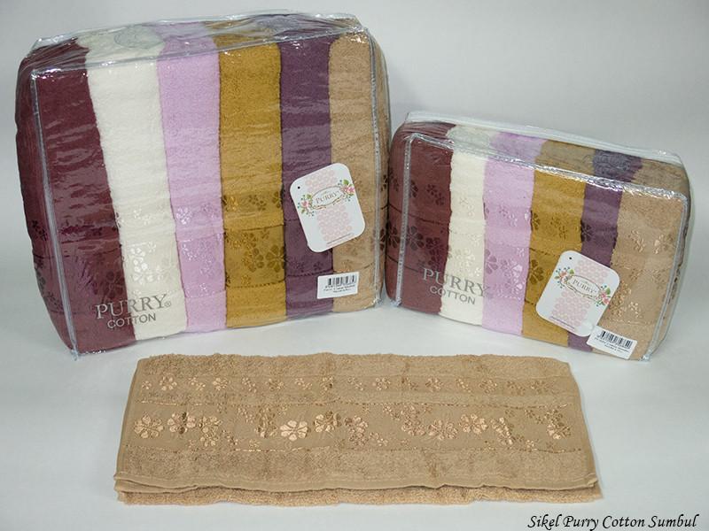 Набор полотенец для лица Purry Cotton 50*90 см махровые банные Sumbul 6шт