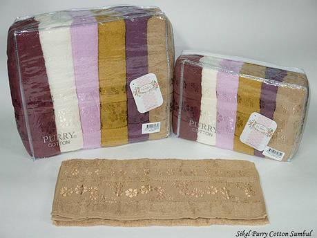 Набор полотенец для лица Purry Cotton 50*90 см махровые банные Sumbul 6шт, фото 2
