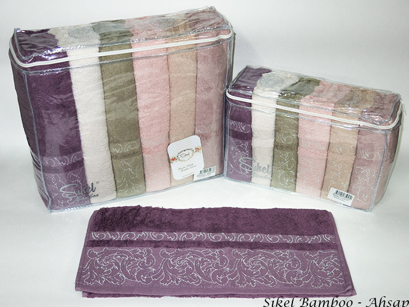 Набор полотенец для лица Sikel Bamboo 50*90см бамбуковые банные Ahsap 6шт