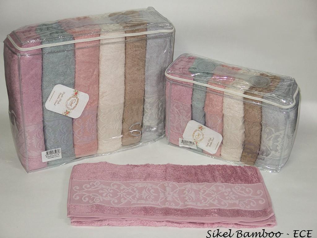 Набор полотенец для лица Sikel Bamboo 50*90см бамбуковые банные Ece 6шт