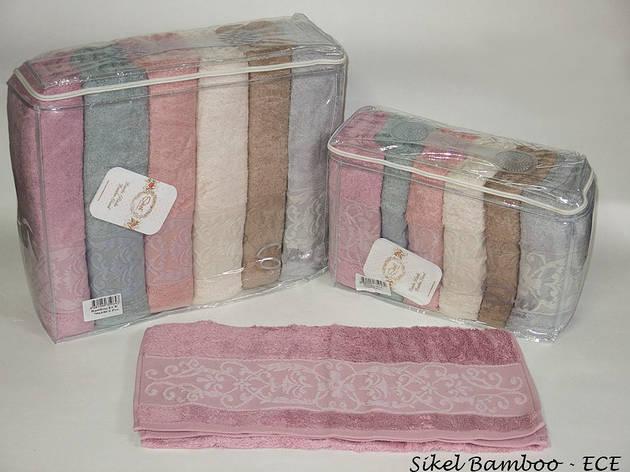 Набор полотенец для лица Sikel Bamboo 50*90см бамбуковые банные Ece 6шт, фото 2