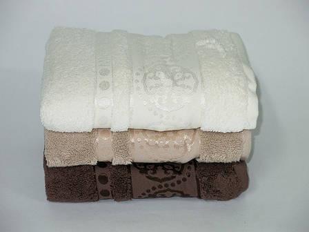 Набор полотенец для лица и тела Cestepe MicroCotton Deluxe Orient 50*90 см 3шт+70*140 см 3шт махровые банные, фото 2
