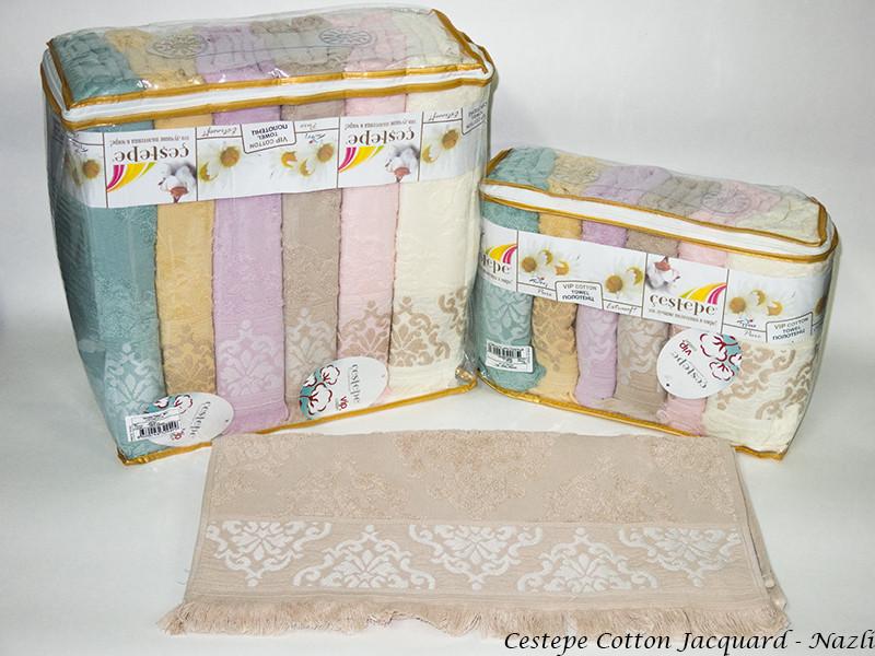 Набір рушників для тіла Cestepe Vip Cotton 70*140 см махрові банні Jacquard Nazli 6шт