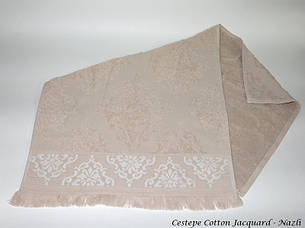 Набір рушників для тіла Cestepe Vip Cotton 70*140 см махрові банні Jacquard Nazli 6шт, фото 2