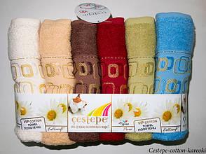Набор полотенец для тела Cestepe Vip Cotton 70*140 см махровые банные Kareoki 6шт, фото 2