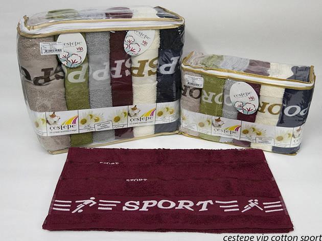 Набор полотенец для тела Cestepe Vip Cotton 70*140 см махровые банные Sport 6шт, фото 2
