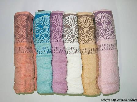 Набор полотенец для тела Cestepe Vip Cotton 70*140 см махровые банные Violet 6шт, фото 2