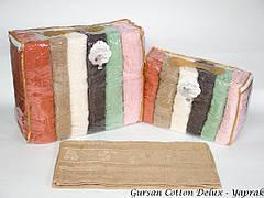 Набор полотенец для тела Gursan Cotton 70*140 см махровые банные Yaprak 6шт