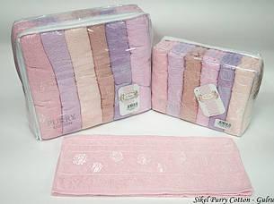 Набор полотенец для тела Purry Cotton 70*140 см махровые банные Gulru 6шт, фото 2