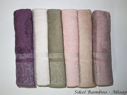 Набор полотенец для тела Sikel Bamboo 70*140см бамбуковые банные Ahsap 6шт, фото 2