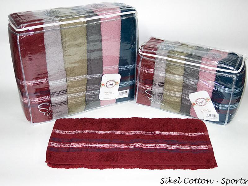 Набор полотенец для тела Sikel Cotton 70*140 см махровые банные Sports 6шт