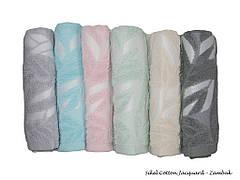 Набор полотенец для тела Sikel Deluxe Cotton 70*140 см махровые банные Jacquard Zambak 6шт
