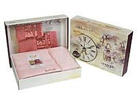 Набор полотенец для лица и тела Cestepe Bamboo Soft 50*90 см + 70*140 см бамбуковые банные в коробке Rose 2шт