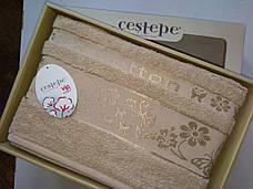 Набор полотенец для лица и тела Cestepe Cotton 50*90 см + 70*140 см махровые банные в коробке 2шт, фото 3