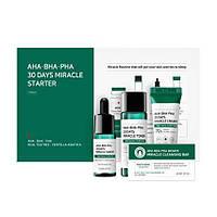 Набор из 4 миниатюр кислотных средств для проблемной кожи SOME BY MI AHA, BHA, PHA 30 Days Miracle Starter Lim