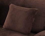 Наволочка Homytex декоративна замша шоколад 45*45см арт.6-12535