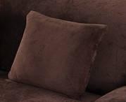 Наволочка Homytex декоративна замша шоколад 45*45см арт.6-12535, фото 2