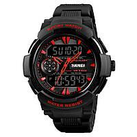 Уценка!!!!Мужские часы Skmei 1320 PROTECT черные с красным, фото 1