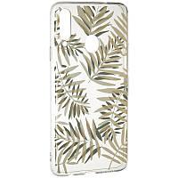Чехол силиконовый с рисунком Gelius Flowers для Samsung Galaxy A20s A207 Branch