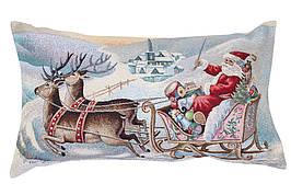 Наволочка декоративная LiMaSo 40*70 см новогодняя гобеленовая односторонняя арт.KISS 657B .70X40