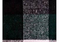 Плед Vladi Palermo полуторный 140*200 см темно зеленый-белый
